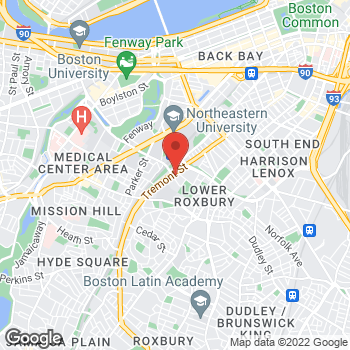 Map of Jean Charles, MD at 1290 Tremont Street, Roxbury, MA 02120