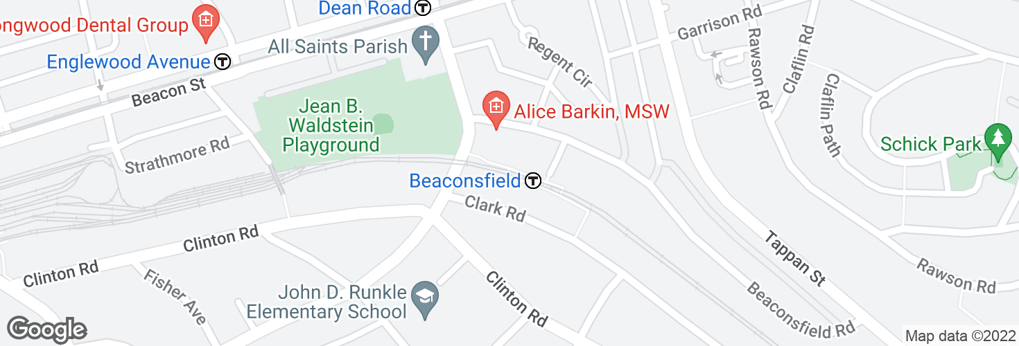 Map of Beaconsfield and surrounding area