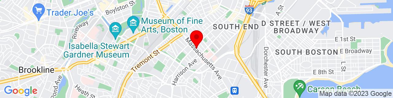 Google Map of 42.3361264, -71.0764308