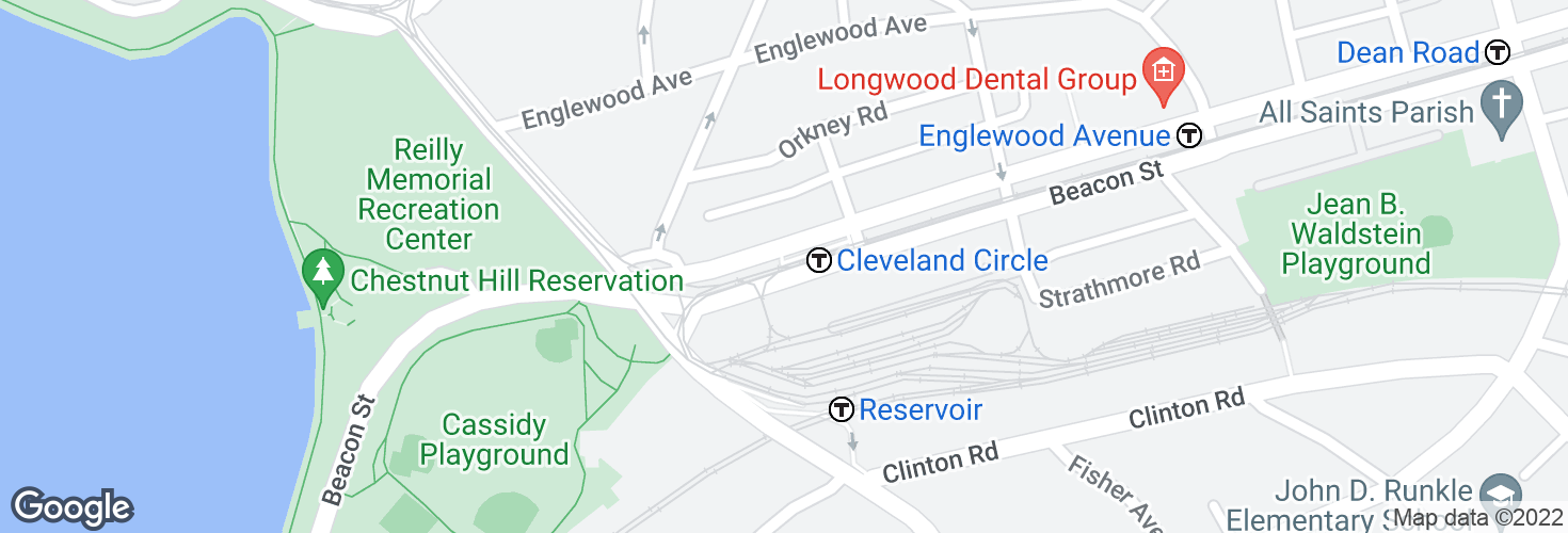 Map of Cleveland Circle and surrounding area