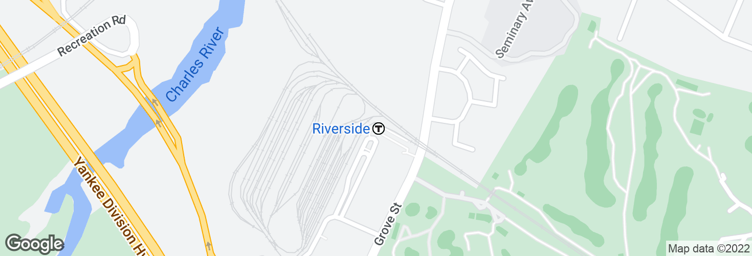 Map of Riverside and surrounding area