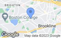 Map of Brookline, MA