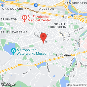 Map of Simon Faynzilberg, MD at 157 Winthrop Road, Brookline, MA 02445