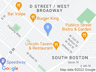 Map of Happy Paws Boston Dog Boarding options in South Boston | Boarding