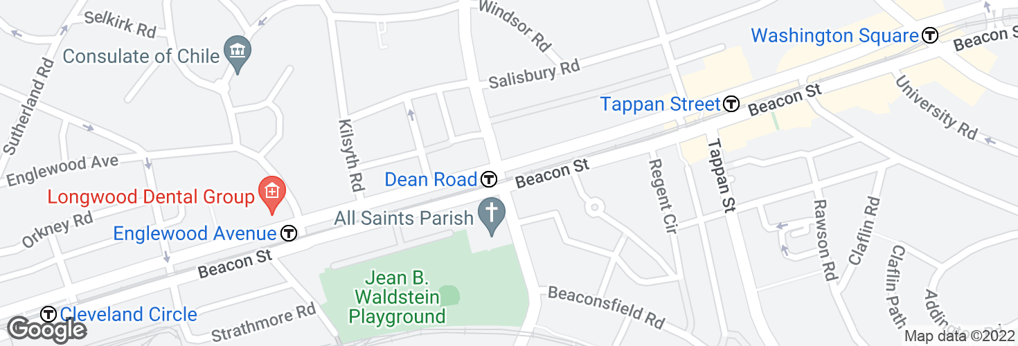 Map of Dean Road and surrounding area