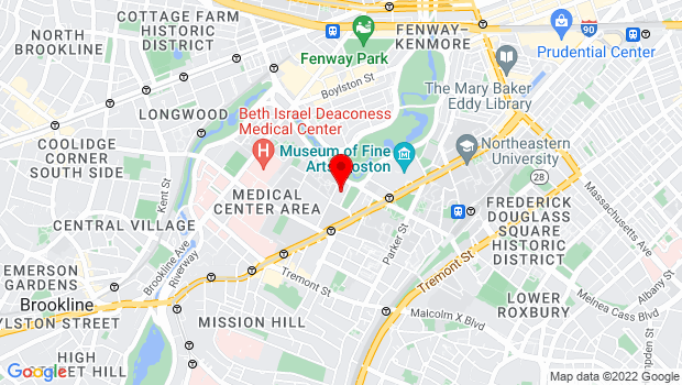 Google Map of 25 Evans Way, Boston, MA 02115