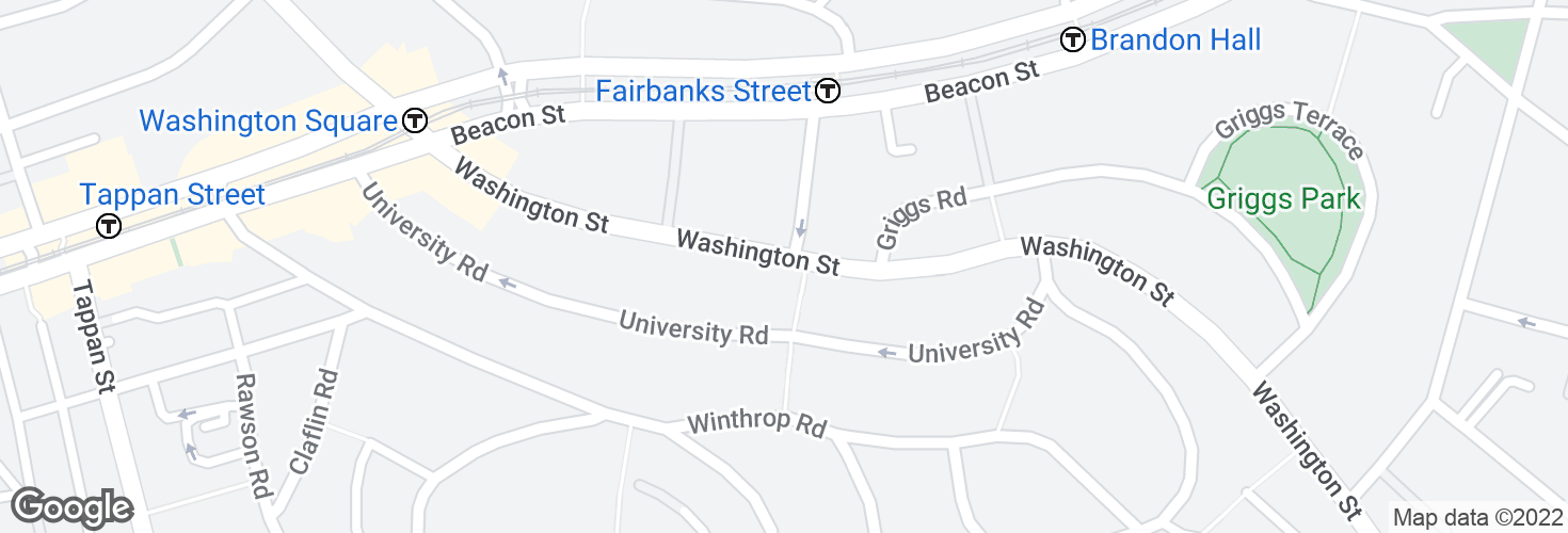 Map of Washington St @ Winthrop Path and surrounding area