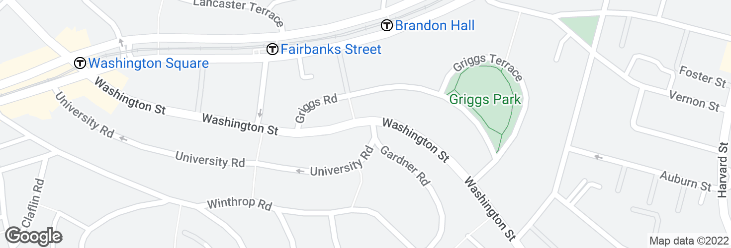 Map of Washington St @ Gardner Rd and surrounding area