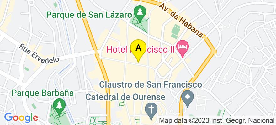 situacion en el mapa de . Direccion: Concordia, 29, 4º B-C, 32003 Ourense. Ourense
