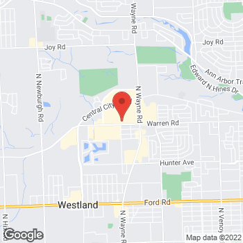 Map of Panera Bread at 35300 Warren Road, Westland, MI 48185