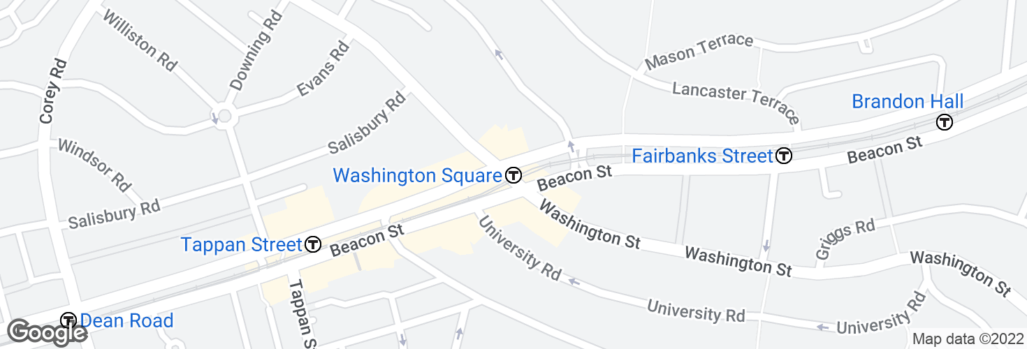 Map of Washington Square and surrounding area