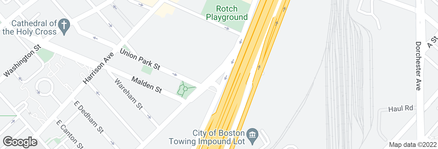 Map of Albany St opp Randolph St and surrounding area