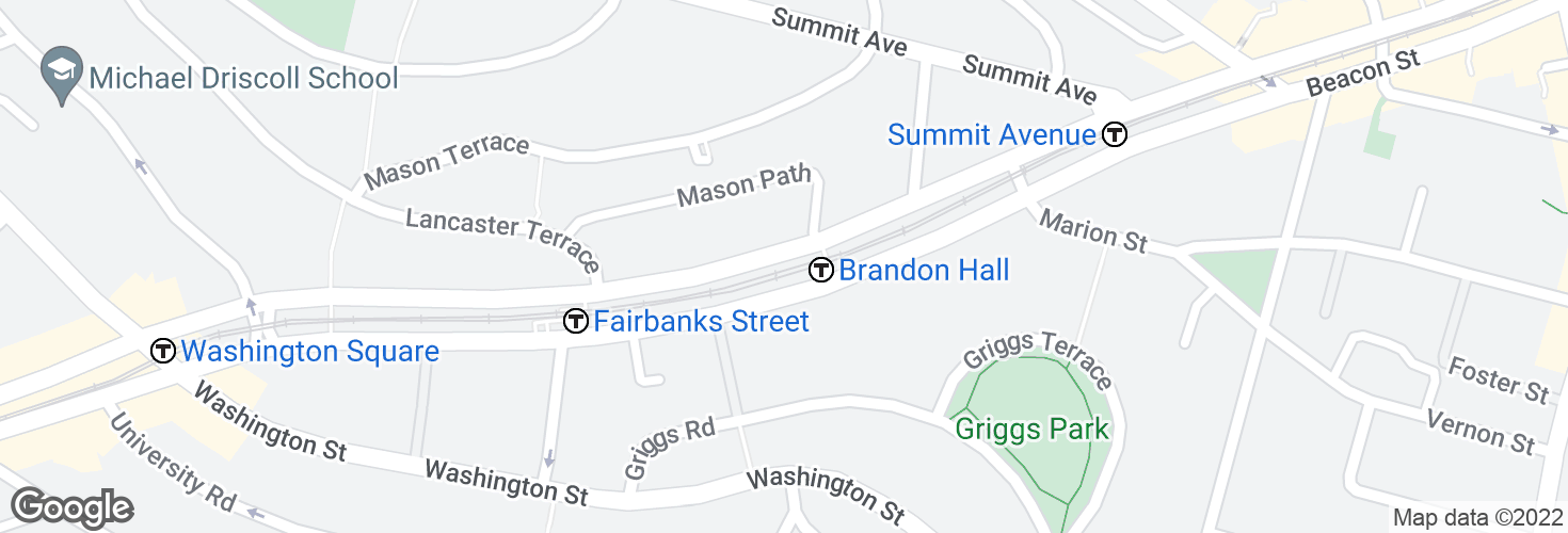 Map of Brandon Hall and surrounding area