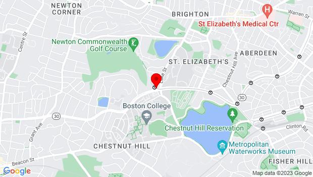 Google Map of 140 Commonwealth Avenue, Devlin Hall 108, Chestnut Hill, MA 02467