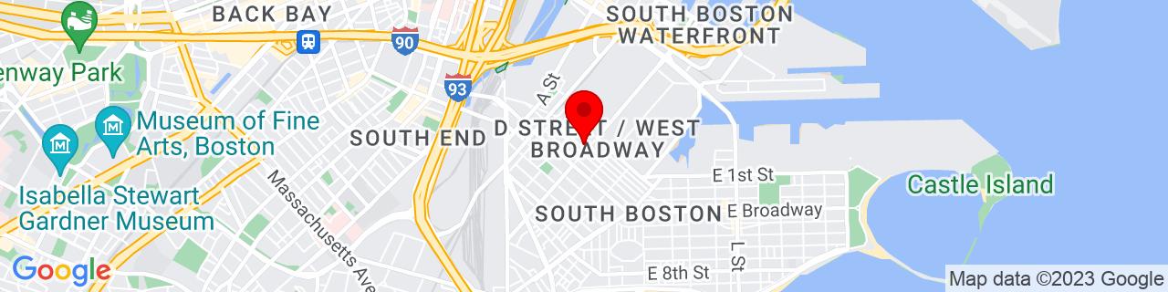 Google Map of 42.3401871, -71.0497638