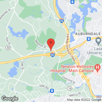 Map of Eleni Okeanis Vaou, MD at 134 South Ave, Weston, MA 02493