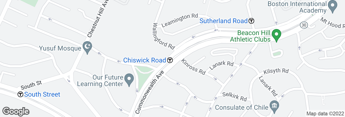 Map of Chiswick Road and surrounding area