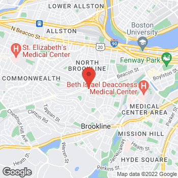 Map of Sergey Urman, MD at 1371 Beacon Streetnumber 100, Brookline, MA 02446