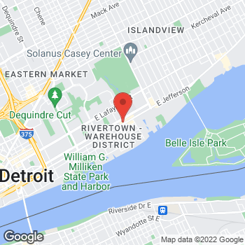 Map of Check `n Go at 3163 East Jefferson Avenue, Detroit, MI 48207