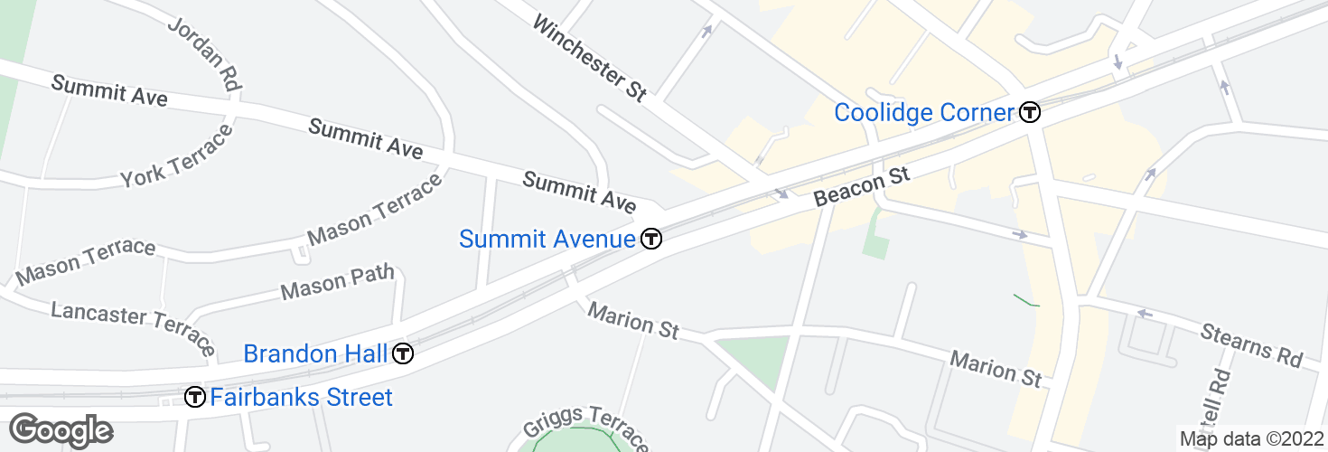 Map of Summit Avenue and surrounding area