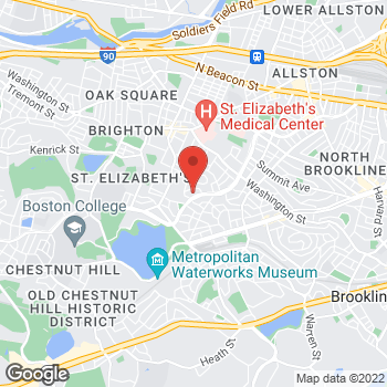 Map of Margaret Shelly, MD at 1755 Commonwealth Avenue, Brighton, MA 02135