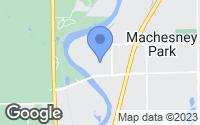 Map of Machesney Park, IL