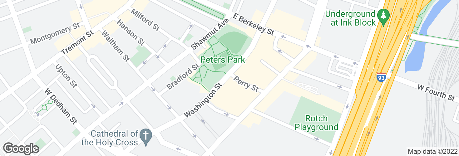 Map of Washington St @ Perry St and surrounding area