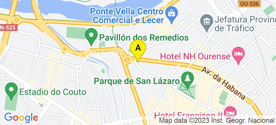 situacion en el mapa de . Direccion: Concejo 22 1º B, 32003 Ourense. Ourense