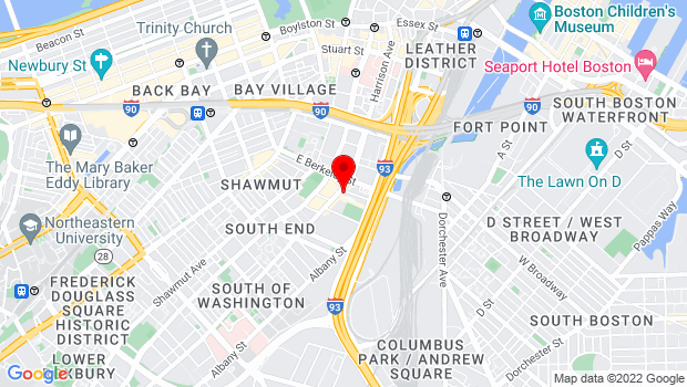 Google Map of 450 Harrison Ave Boston, Boston, MA 02118