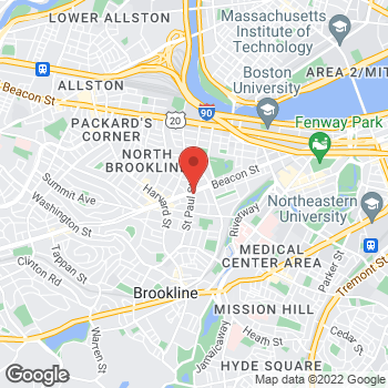 Map of Cathy Vanden Heuvel, MD at 1223 Beacon Street, Brookline, MA 02446