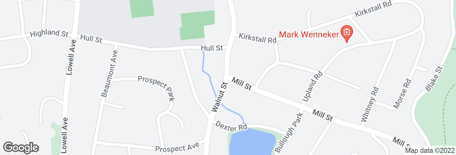 Map of Walnut St @ Mill St and surrounding area