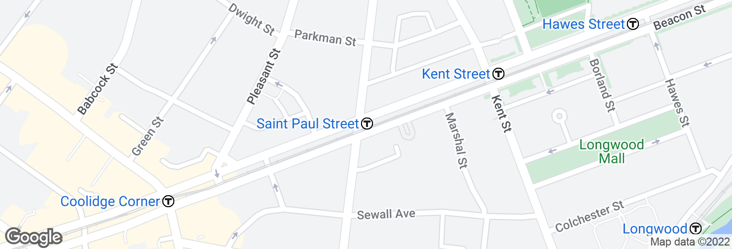 Map of Saint Paul Street and surrounding area