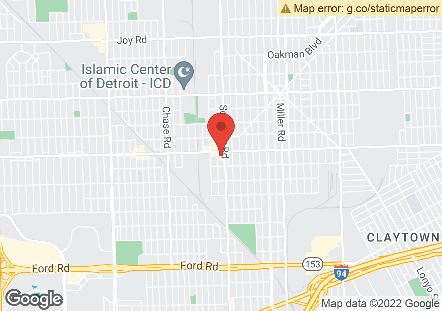 Google Map of 13601 W WARREN AVE