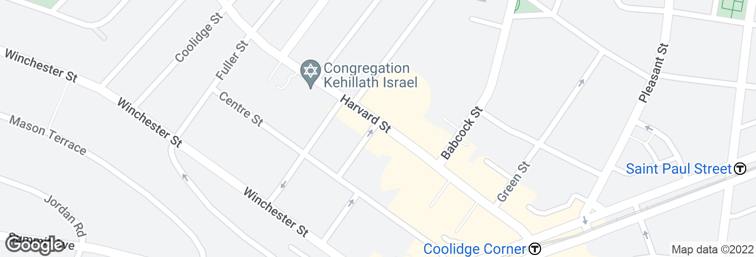 Map of Harvard St @ Shailer St and surrounding area