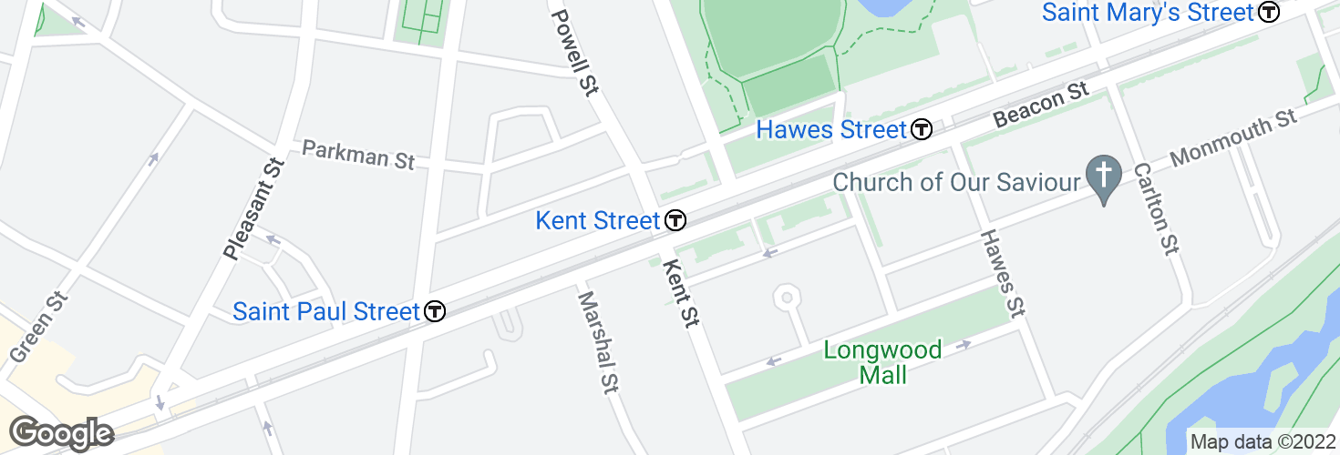 Map of Kent Street and surrounding area