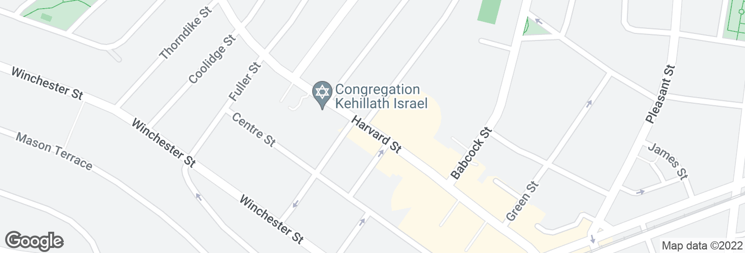 Map of Harvard St @ Stedman St and surrounding area