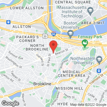 Map of Nicole Boudreau, MD at 1180 Beacon Street, Brookline, MA 02446