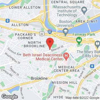 Map of Peter Bendetson, MD at 1180 Beacon Streetsuite 3A, Brookline, MA 02445