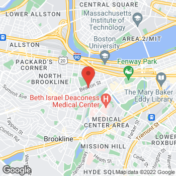 Map of Katherine Fening, MD at 1101 Beacon Streetsuite 1E, Brookline, MA 02446