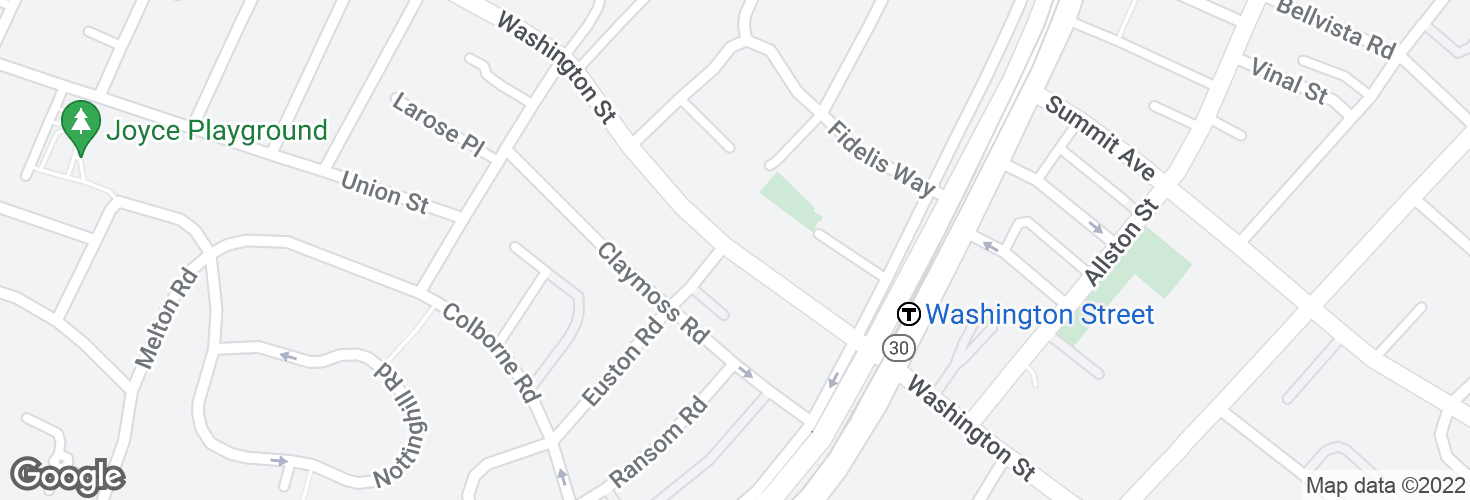 Map of Washington St opp Euston Rd and surrounding area