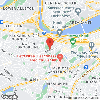 Map of Katherine Fening, MD at 1101 Beacon Street, Brookline, MA 02446