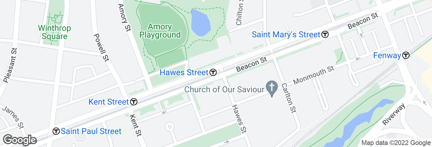 Map of Hawes Street and surrounding area