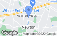 Map of Newton, MA