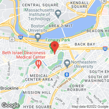 Map of Guitar Center at 1255 Boylston Street, Boston, MA 02215