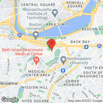Map of Guitar Center Lessons at 1255 Boylston Street, Boston, MA 02215