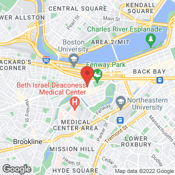 Map of Stacie Noble-Shriver, MD at 133 Brookline Ave, Boston, MA 02215