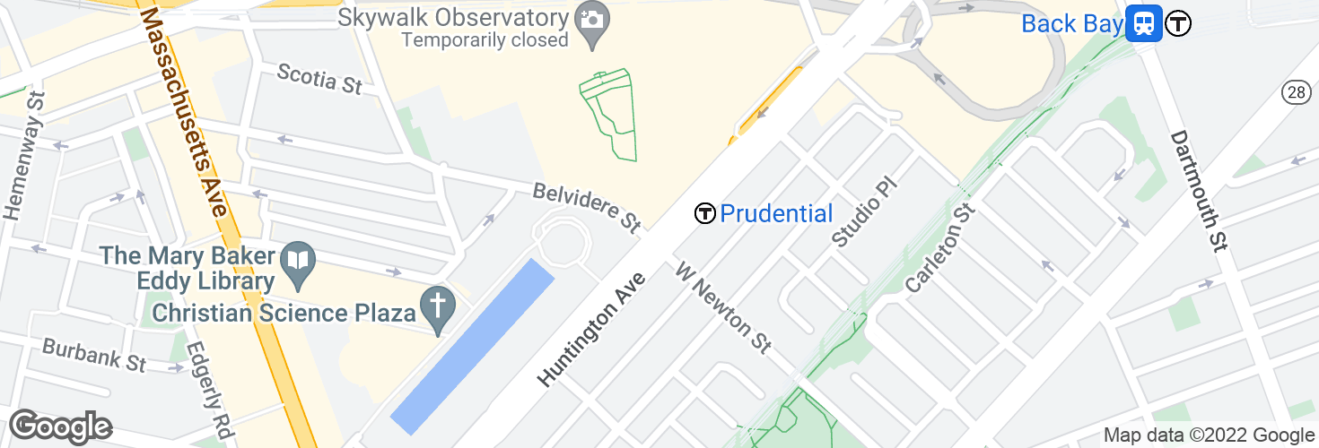 Map of Prudential and surrounding area