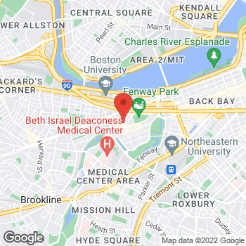 Map of Nicole Piscatelli, MD at 133 Brookline Ave, Boston, MA 02215