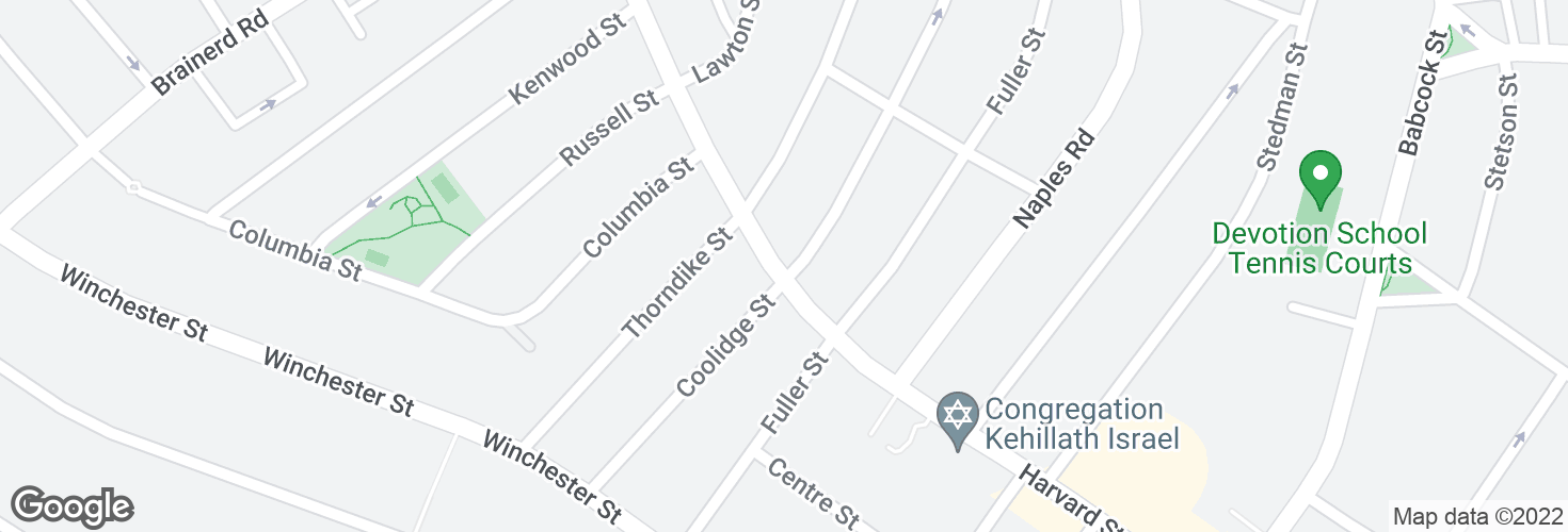 Map of Harvard St @ Coolidge St and surrounding area