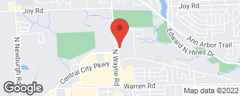 Map of 8040 N Wayne Rd in Westland